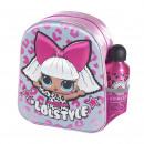 groothandel Licentie artikelen: LOL - kinderrugzak 3d con accesorios, roze