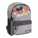 Mickey - mochila casual urbana, gris