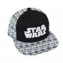 Star Wars - gorra visera plana, 58 cm, blanco