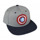 Großhandel Fashion & Accessoires: Avengers - Schirmmütze flach, 56cm, grau