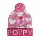 TROLLS - hat lights poppy, talla ãšnica, pink