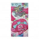 Trolls - handdoek katoen, roze