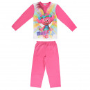 TROLLS - long sleeve pijama cotton poppy, fuchsia