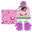 Großhandel Schals, Mützen & Handschuhe:NELLA - 3 Stück, pink