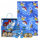 wholesale Bed sheets and blankets: PAW PATROL - blanket gift set, light blue