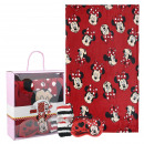 wholesale Scarves, Hats & Gloves: MINNIE - blanket gift set, red
