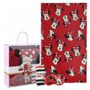 MINNIE - blanket gift set, red