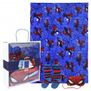 SPIDERMAN - blanket gift set, blue