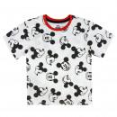 groothandel Licentie artikelen: Mickey - premie, wit met korte mouwen, T-Shirt