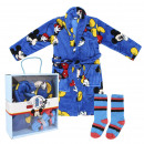 wholesale Scarves, Hats & Gloves: MICKEY - gift set home flannel fleece, blue