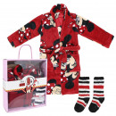 wholesale Scarves, Hats & Gloves: MINNIE - gift set home flannel fleece, red