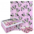 wholesale Scarves, Hats & Gloves: MINNIE - metal box set, pink