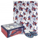 wholesale Licensed Products: SPIDERMAN - metal box set, grey