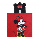 wholesale Licensed Products: MINNIE - poncho cotton applications, red