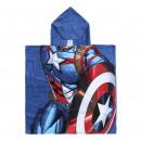 Avengers - poncho de algodón capitan america, rojo