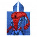mayorista Artículos con licencia: Spiderman - poncho de algodón, azul marino