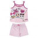 Großhandel Fashion & Accessoires: LOL - Baumwoll-Shortama, pink