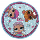 wholesale Towels: LOL - towel round, sky blue