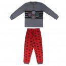 wholesale Nightwear: AVENGERS - long pajamas interlock, grey