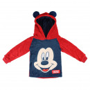 Großhandel Fashion & Accessoires: CORAL HOODED SWEATSHIRT FLEECE Mickey - 5 EINHEIT
