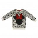 Großhandel Kinder- und Babybekleidung: Minnie - -Sweatshirt Bürstenvlies, grau