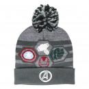 nagyker Licenc termékek: Avengers - kalap pompon, talla única, szürke