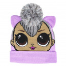 LOL - hat with applications, one size, lilac