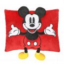 groothandel Licentie artikelen: Mickey - kussen con aplicaciones, 30x30 cm, rood