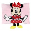 Minnie - cuscino con applicazioni, 30x30 cm, rosa