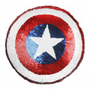AVENGERS - cushion sequins, 30x30 cm, red