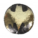 wholesale Cushions & Blankets: BATMAN - cushion sequins, 30x30 cm, black