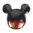 wholesale Bed sheets and blankets: MICKEY - cushion sequins, 30x30 cm, red