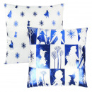 wholesale Cushions & Blankets: FROZEN - cushion premium, 40 cm, blue