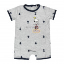 Snoopy - Baby Grow Single Jersey , grau