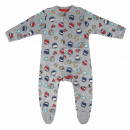 wholesale Childrens & Baby Clothing: JUSTICE LEAGUE - baby grow interlock, grey