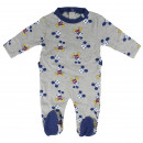 MICKEY - baby grow interlock, grey