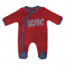 Großhandel Fashion & Accessoires: MUSIC - Baby Grow Interlock Musik acdc, rot