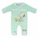 SNOOPY - baby grow interlock, turquoise