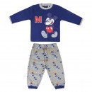 grossiste Pyjamas et Chemises de nuit: PYJAMA LONG INTERLOCK Mickey - 4 UNITÉS