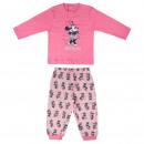 wholesale Nightwear: MINNIE - long pajamas interlock, pink