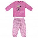 wholesale Nightwear: MINNIE - long pajamas velour, pink