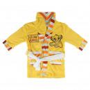 wholesale Nightwear: LION KING - dressing gown coral fleece, yellow