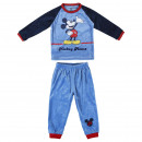MICKEY - long pajamas velour poly, red