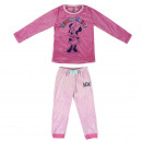 MINNIE - long pajamas velour poly, fuchsia