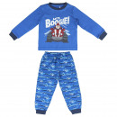 wholesale Nightwear: TOP WING - long pajamas interlock, blue