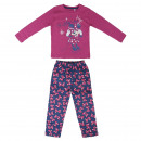 wholesale Nightwear: MINNIE - long pajamas interlock, fuchsia