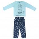 FROZEN - long pajamas interlock, turquoise