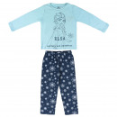wholesale Nightwear: FROZEN - long pajamas interlock, turquoise