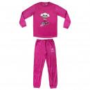 wholesale Nightwear: LOL - long pajamas velour poly, fuchsia