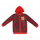 MINNIE - hoodie coral fleece, grey